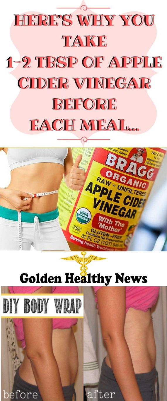 HERE'S WHY YOU TAKE 1-2 TBSP OF APPLE CIDER VINEGAR BEFORE EACH MEAL..