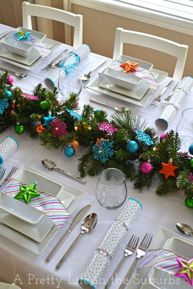 A Colourful Christmas Table! - A Pretty Life In The Suburbs