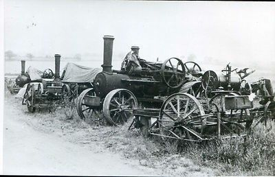 postcard Fowler traction engine 13227 & John Patten's tackle at Little Hadham (10/30/2012)