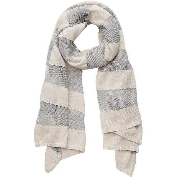 Witchery Metal Ladder Scarf (95 BAM) ❤ liked on Polyvore featuring accessories, scarves, barley, striped scarves, striped shawl, metallic scarves and metallic shawl