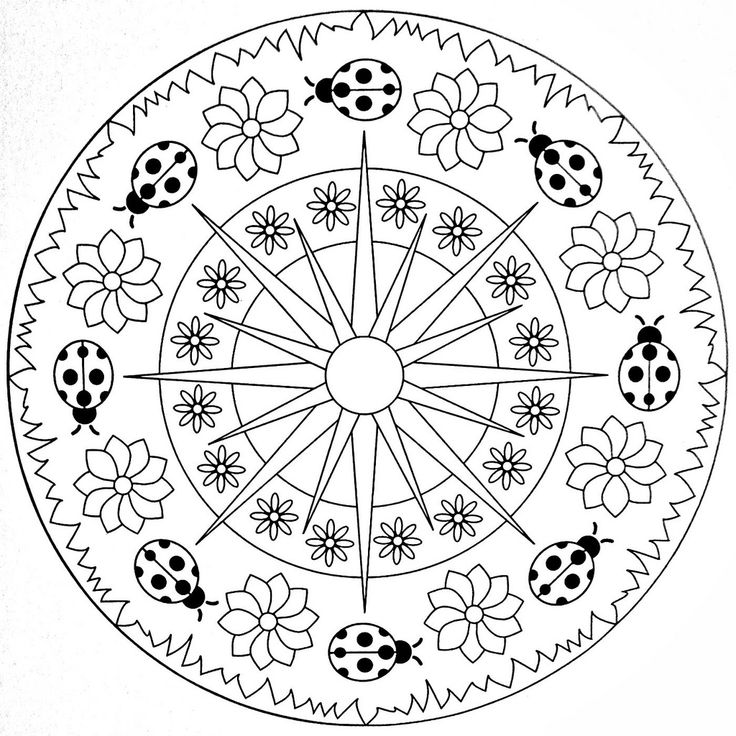 Mandala Coloring Page Ladybugs Mandala Coloring Books Ladybug Coloring Page Mandala Coloring Pages