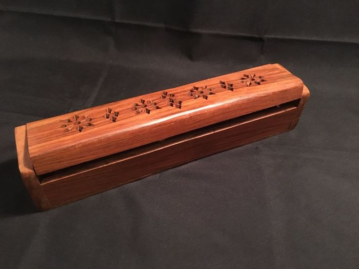 Wooden Incense Box / Holder Made in India (WC17-15) / Woodcraft  in Lots More..., Metaphysical, Incense, Accessories | eBay!