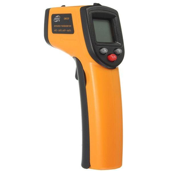 GM320 Non-Contact Laser LCD Display Digital IR Infrared Thermometer Temperature Meter Gun -50℃ to 330℃ Sale - Banggood.com