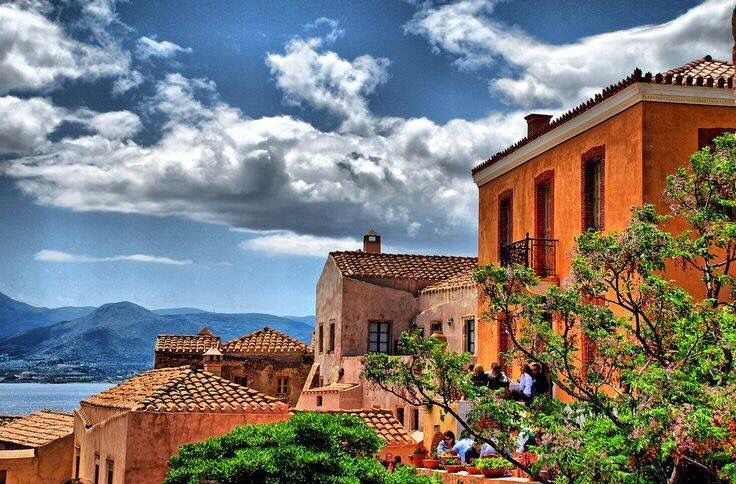 Monemvasia. Mute the walls to match family room colors