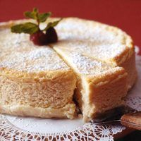 Italian Cheesecake  This dense, creamy classic is a house specialty at La Pastaria Restaurant in Summit, New Jersey.