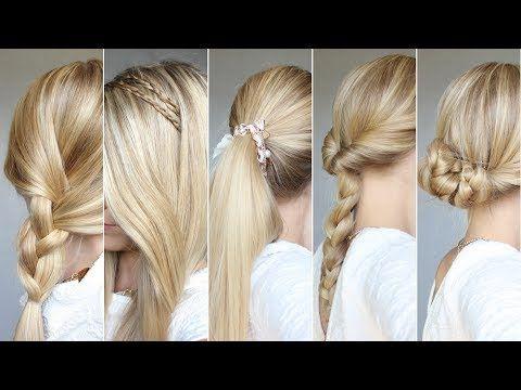 ✄ 5 coiffures rapides : du lundi au vendredi #4 - YouTube