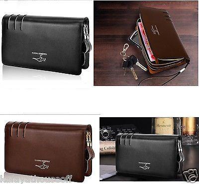New Arrival Men Fashion European Style Wallet Card Holder Kangaro Faux leather