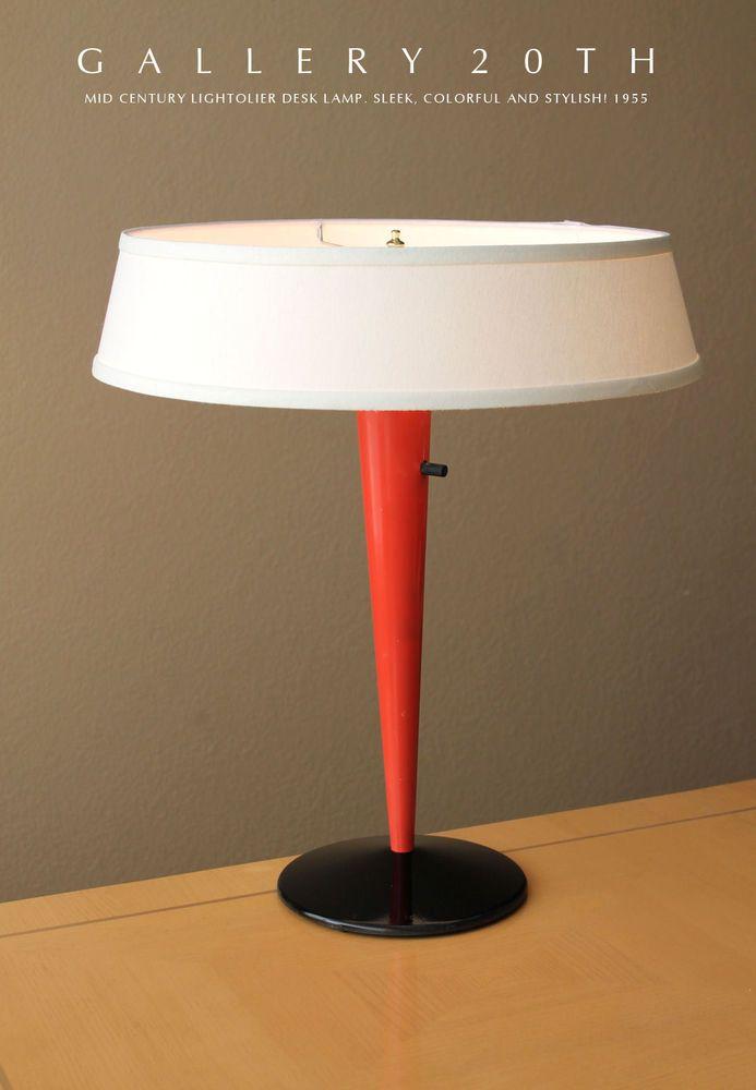 Lightolier mid century modern table lamp eames 50s vtg for Eames lampe
