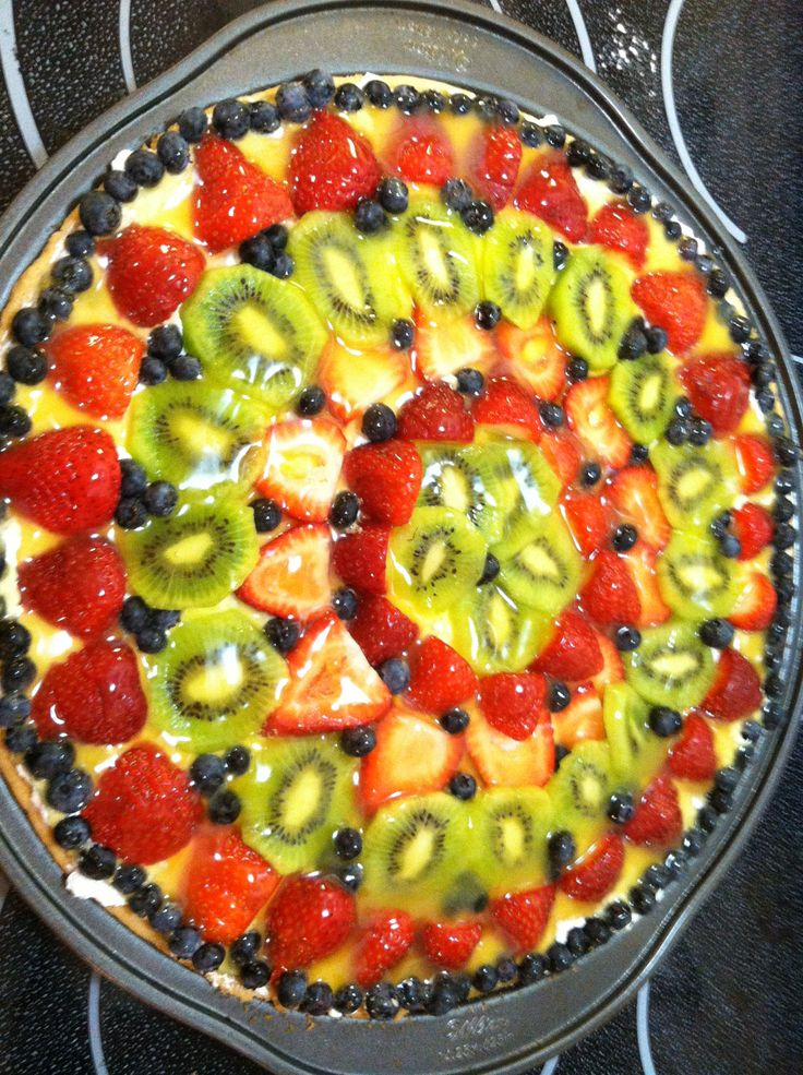 Quick Fruit Pizza Recipe | Posted by Melanie in Recipes | Comments Off