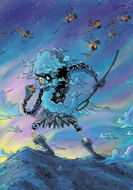 Giant Time seeker illustration art by LePueblo géant chasseur temps