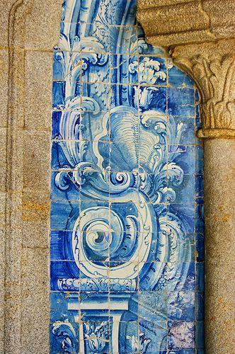 Tiles - Azulejos Porto, Sé Catedral, Portugal