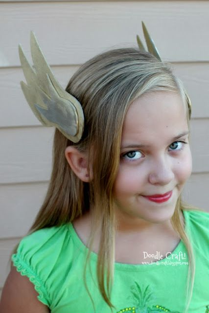 Winged Helmet Headband!  Okay, winged helms are awesome!    I had my hubby make me this winged helm and armor about 6 years ago.  Wor...