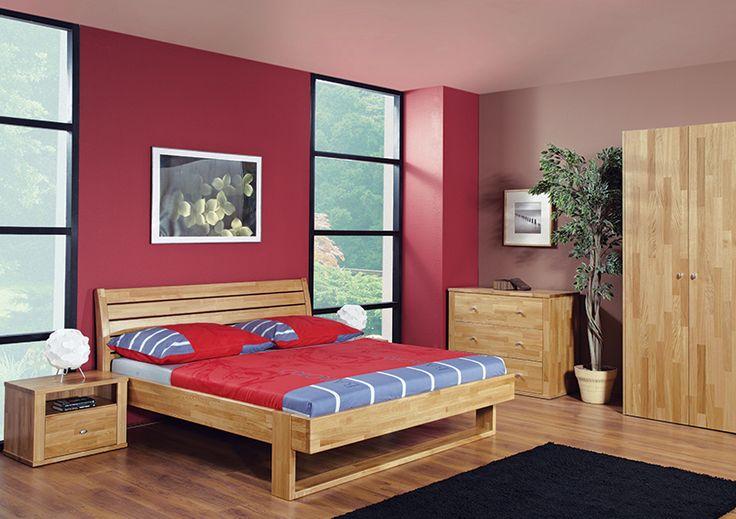Celomasivní postel VĚRA desén přírodní DUB www.nabytek-montero.cz
