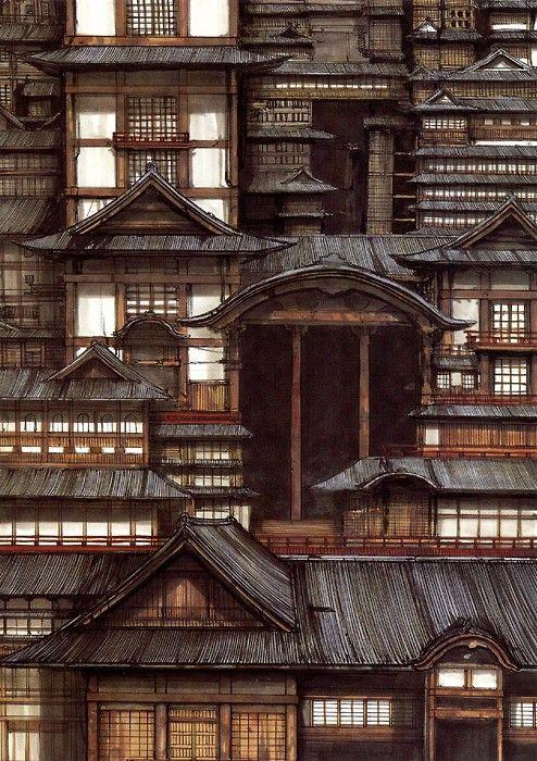 best 25 japanese buildings ideas on pinterest. Black Bedroom Furniture Sets. Home Design Ideas
