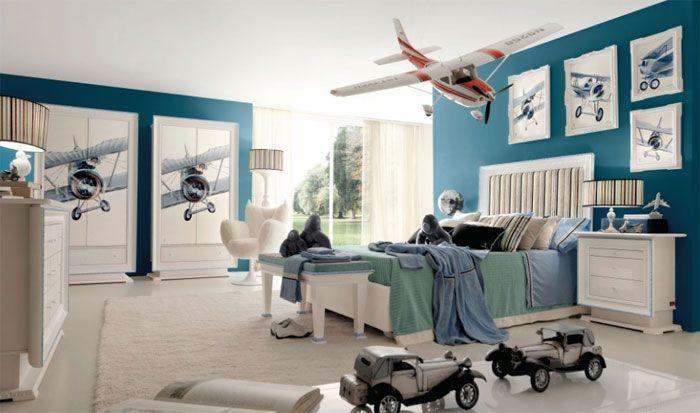 Decoración de Cuartos Infantiles con Aviones - Para más información ingrese a: http://fotosdedecoracion.com/2013/08/decoracin-de-cuartos-infantiles-con-aviones/