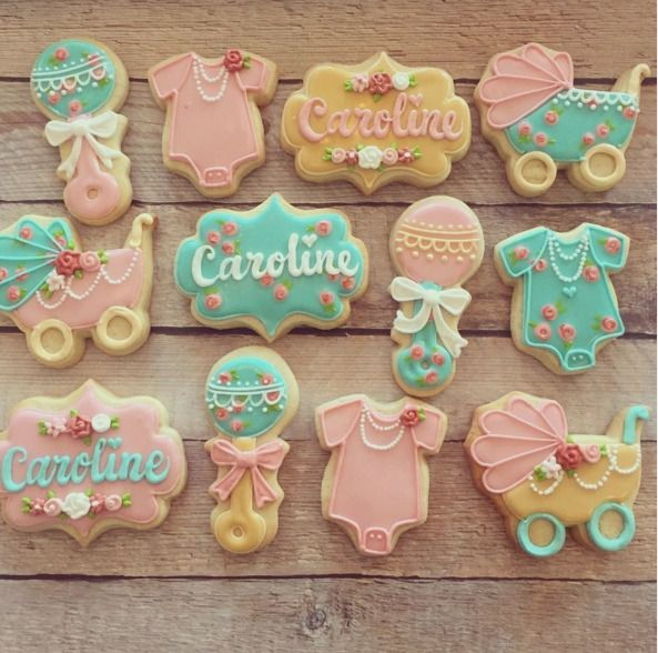Adorable Baby Shower Cookies! https://www.annclarkcookiecutters.com/category/baby-cookie-cutters/