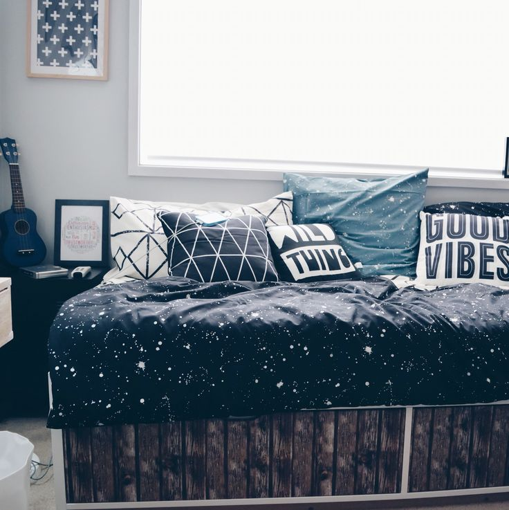Do up a cheap bed frame with some faux wood contact
