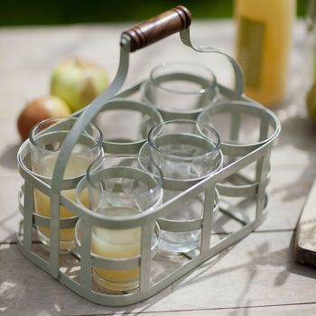 Glass Carrier With Six Glasses