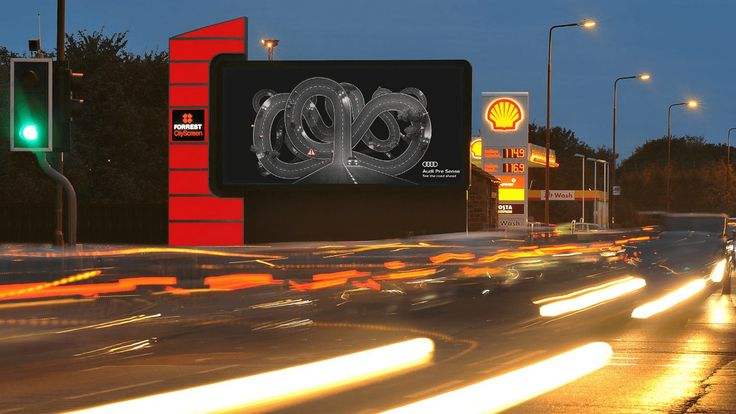 Audi campaign on UK digital billboards tracks traffic and weather