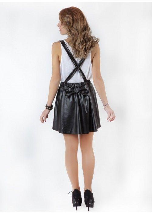 BASICS Faux Leather Skirt