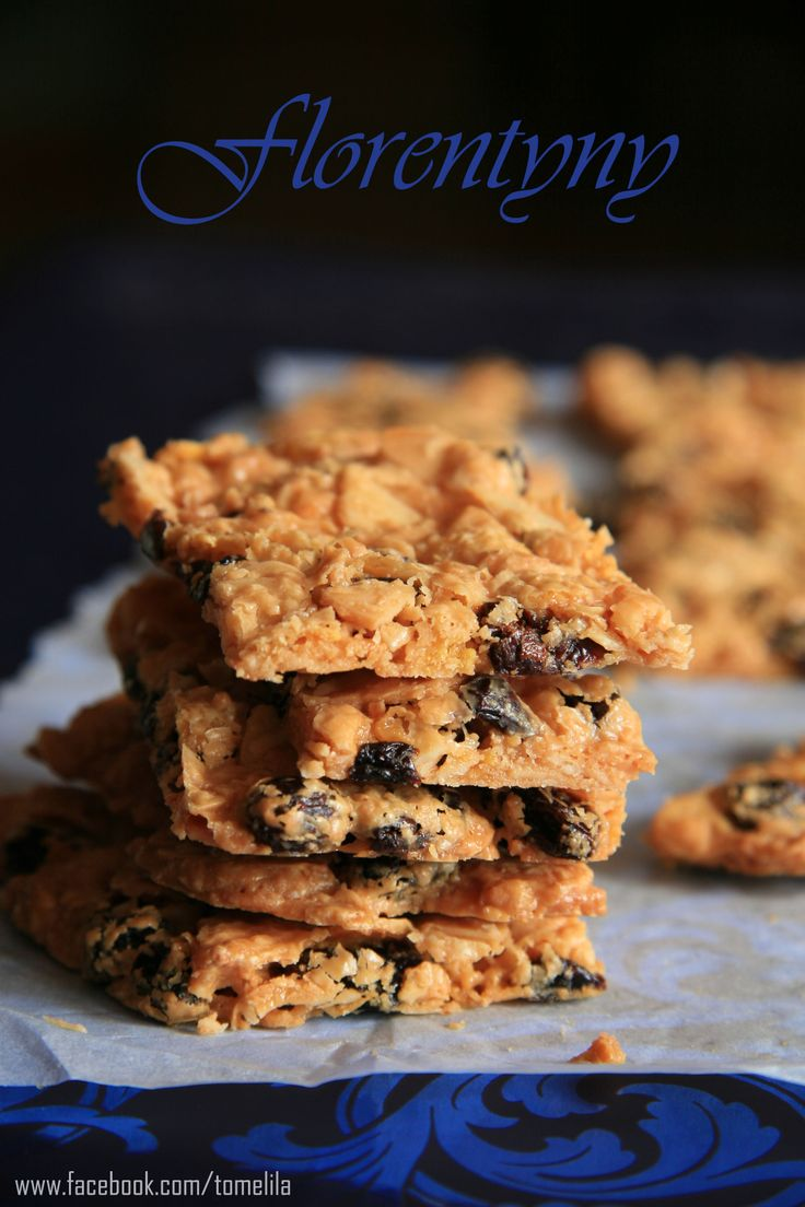Florentines with almonds, dried cherries, cornflakes and sesame seeds.