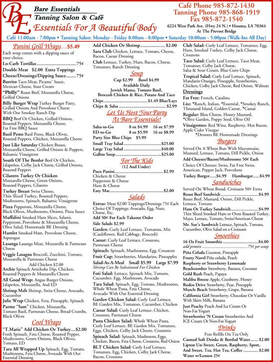 17 best images about interesting beauty and spa menus on - Tanning salons prices ...