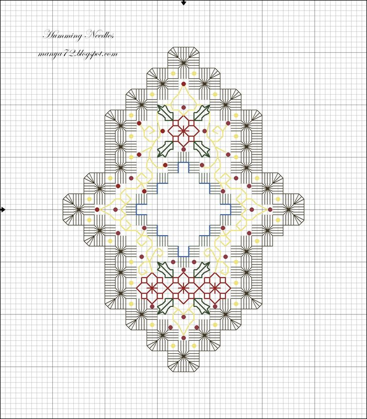 Humming Needles: Hardanger Ornament Pattern no.4