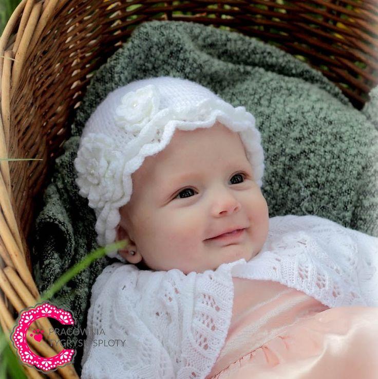 czapeczka kapelusik chrzest