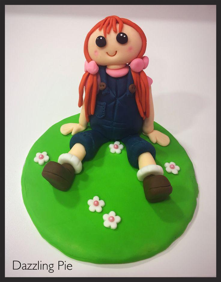 Rosie Ragdoll cake topper made by Dazzling Pie