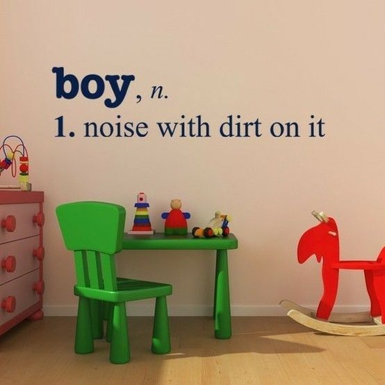 truth.: Vinyls Decals, Idea, My Boys, Wall Decals, Baby Boys, So True, Playrooms, Kids, Little Boys Rooms