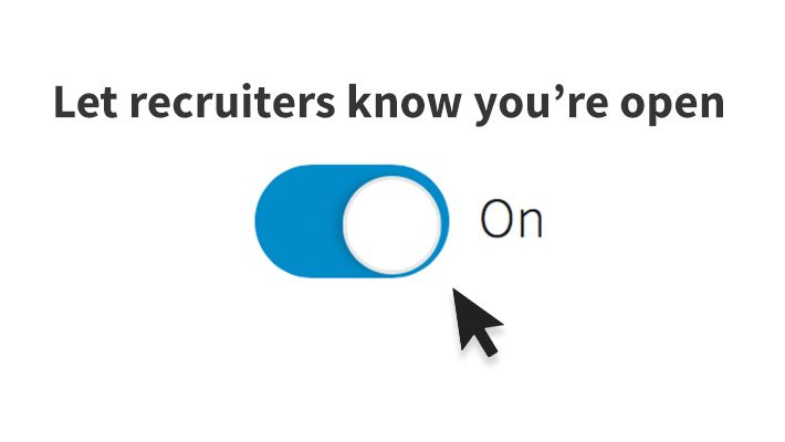LinkedIn has a new feature that let's you signal to recruiters WITHOUT letting your current employer know -