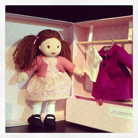 What do you think of Ragtales' Mia with her dressing up wardrobe? She folds up into a gorgeous pink suitcase #toys #ragtales