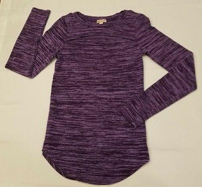 Juicy Couture XS Womens juniors top Long Sleeve cutout heather Purple Shirt sexy
