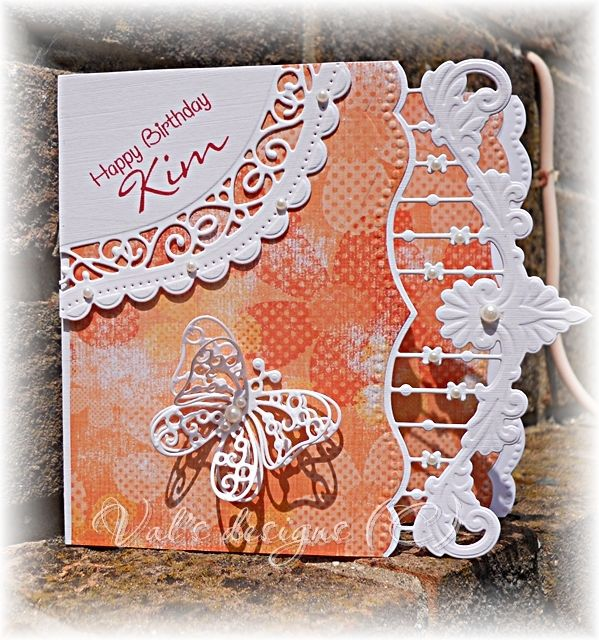 Made with Marianne Anja border and Spellbinders curved borders for the corner.