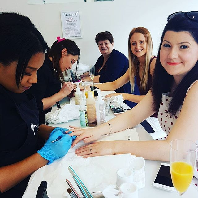 Gorgeous pre-wedding pampering. We love making our guests smile.  This evening we only have a 6pm with Courtney and a 7pm with Jodi CALL US ASAP 02034417172 First come first served #weddings #welovenails #weddingparty #weddingnails #nails #bride #bridesnails #croydon #london