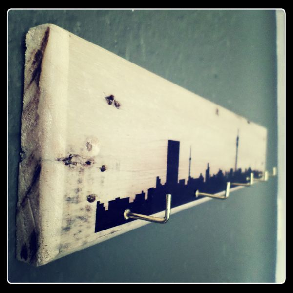 JHB skyline key holder with L-shaped hooks