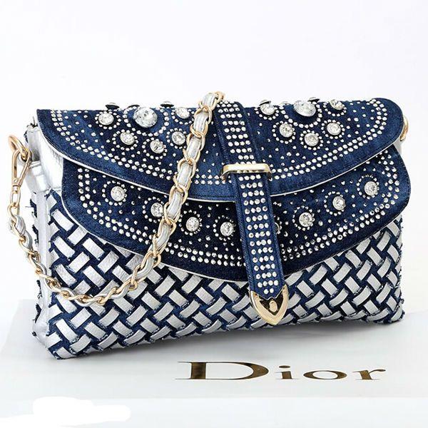 women diamond jean fabric handbag  FOB Price: US $ 19 - 21 / Piece | Get Latest Price Min.Order Quantity: 10 Piece/Pieces jean fabric handbag Supply Ability: 1000000 Bag/Bags per Month jean fabric handbag