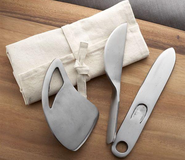 Juego de cuchillos rústicos para queso