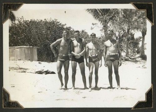 Soldiers swimming on Green Island, Cairns, 1943. State Library of Queensland. http://hdl.handle.net/10462/deriv/36094