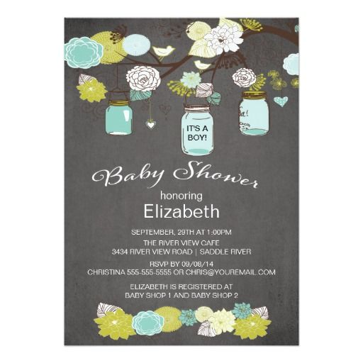323 best images about mason jar baby shower invitations on pinterest,
