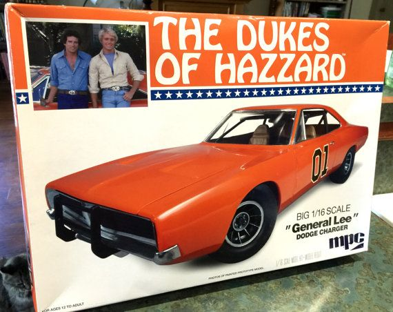Dukes of Hazard General Lee Huge 12 1/2 Inches by LeftoverStuff