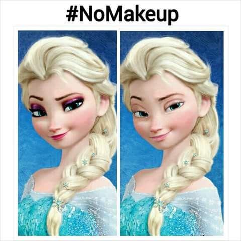Wow. Elsa without makeup.