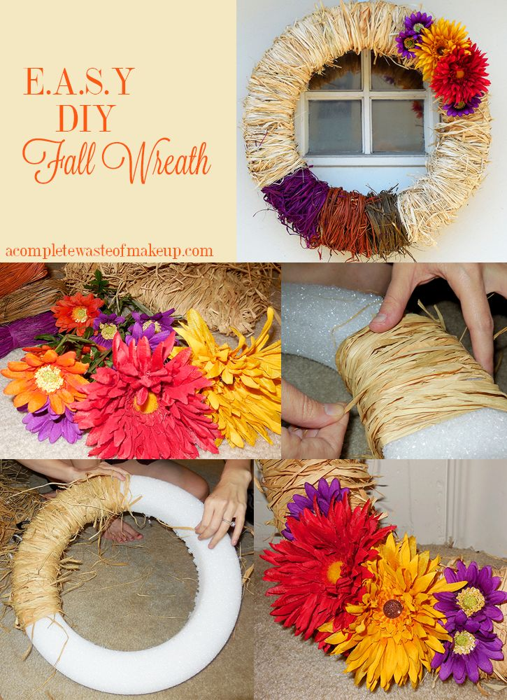 Easy Fall Kids Crafts That Anyone Can Make: 25+ Best Ideas About Easy Fall Wreaths On Pinterest