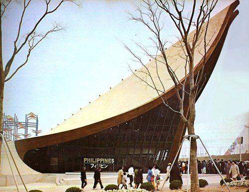 Philippine Pavilion of Progress designed by Leandro Locsin for the 1970 Osaka Expo