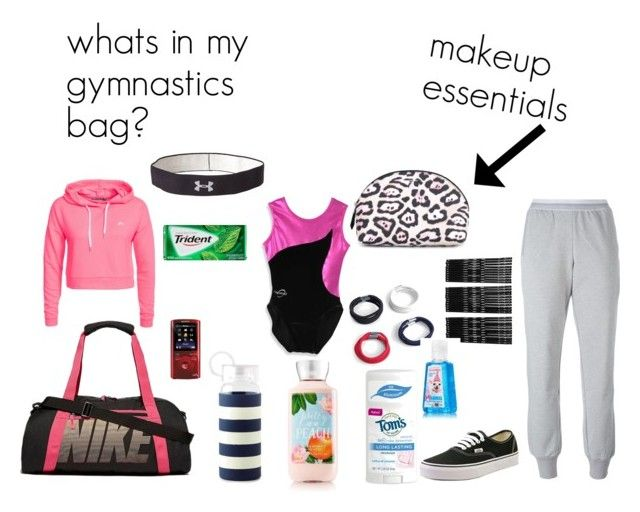 """Whats in my gymnastics bag?"" by countrygirlemma ❤ liked on Polyvore featuring NIKE, Kate Spade, Only Play, Sony, Monki, Boohoo, Givenchy, adidas, Vans and Under Armour"