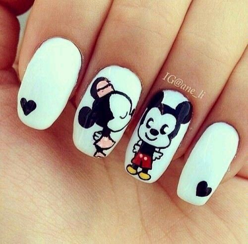 Uñas Minnie y Mickey