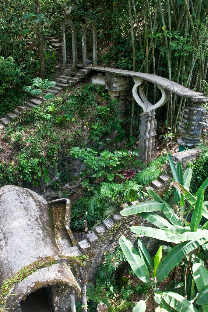 Las Pozas - a surreal garden in the rainforest of San Luis Potosi, #Mexico haven't been but maybe someday