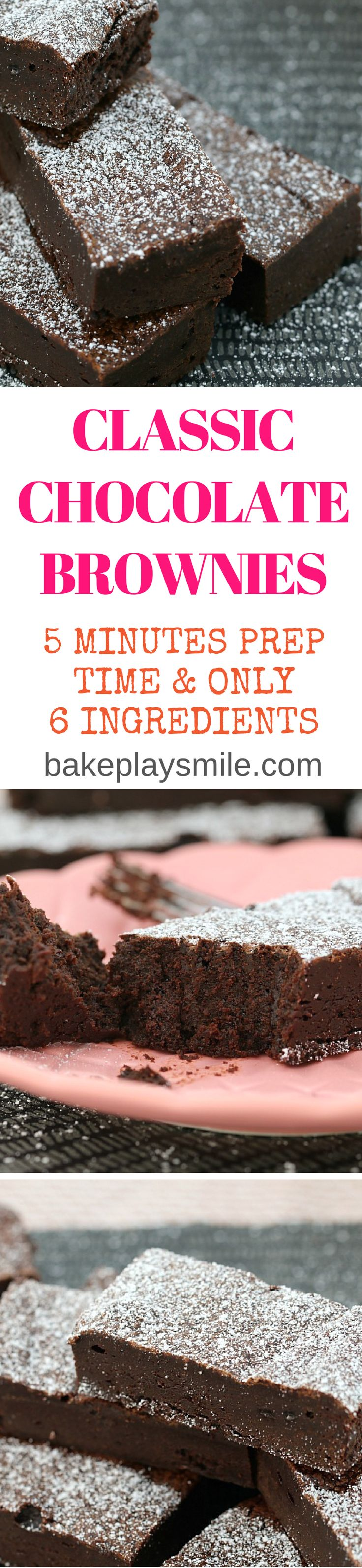 5 Minute Chocolate Brownies are so rich and delicious…