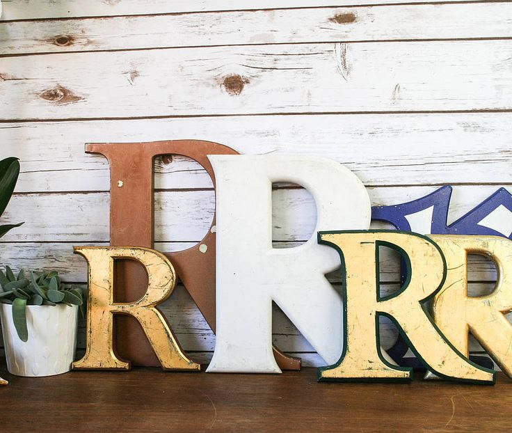 """Vintage Letters Wall Decor 97 Best """"r"""" Is For Ruth Images On Pinterest  Letters Decorated"""