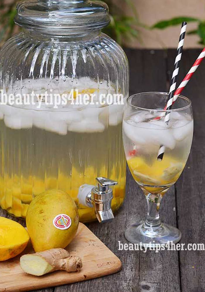 Mango and Ginger Detox Water